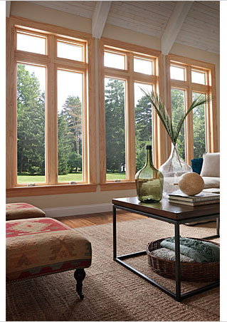Wood replacement windows from roi home improvements waco for Best replacement windows for log homes